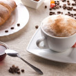 Coffee with  croissant — 图库照片