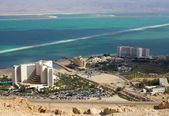 Panorama - resort on dead sea — Stock Photo