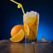Refreshing cocktail with orange and ice — Stock Photo #21559929