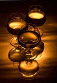 Tre bicchiere per cognac — Foto Stock