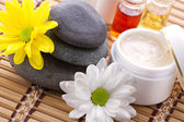 Facial and body spa-cosmetics products — Stock Photo
