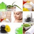 Spa-collage with beautiful woman — Stock Photo