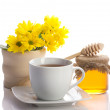 Tea with honey — Stockfoto