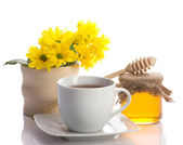 Tea with honey — Stock Photo