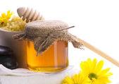 Spa still-life with honey — Stock Photo