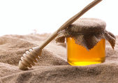 Rural still with honey — Stock Photo