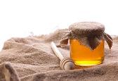 Rural still of honey — Stock Photo