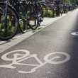 Parking for bicycle — Foto Stock