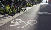 Parking for bicycle — Stock Photo