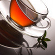 Tea and fresh mint — Stock Photo