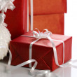 Christmas present in boxes — Stock Photo