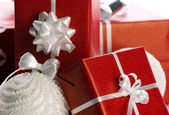 Closeup of a gift boxes — Stock Photo