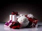 Still with christmas gifts — Stock Photo