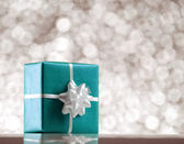 Blue present box — Stock Photo