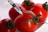 Injection of fresh tomatoes — Stock Photo