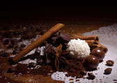 Pile of sweet with spices — Stock Photo