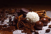 Candy, chocolate and spices — Stock Photo