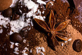 Chocolate and spices mix — Stock Photo