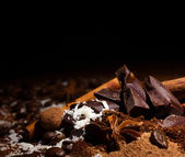 Chocolate mix with spices — Stock Photo