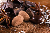 Chocolate assorttment — Stock Photo