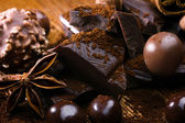 Chocolate and bonbon — Stock Photo