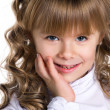 Stock Photo: Close-up portrait of a little girl