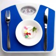 Diet menu for fat — Stock Photo