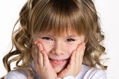 Primer retrato de una niña — Foto de Stock