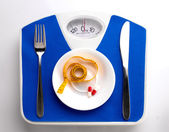 Diet menu for fat people — Stock Photo