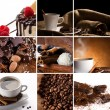 Stock Photo: Collage with coffee