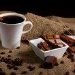 Stock Photo: Coffee, chocolate and spices