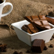 Stock Photo: Coffee with  chocolate