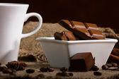 Coffee with  chocolate — Stock Photo