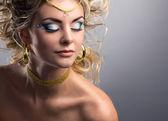 Close-up portrait of a blond  girl  — Zdjęcie stockowe