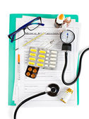 Medical accessories and drugs — Stock Photo