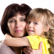 Embracing grandmother and granddaughter — Stock Photo #45585263