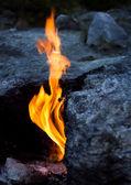 Eternal flames, Turkey — Stock Photo