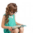 Little girl reading book — Stock Photo #49001435