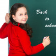 Girl and chalkboard — Stock Photo #49001991