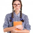 Girl with books — Stock Photo #49002279