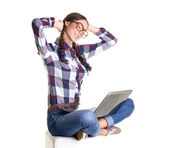 Student girl resting — Stock Photo