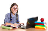 Teen girl working — Stock Photo