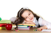 Weariness  schoolgirl — Stock Photo