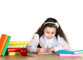 Little girl studing — Stock Photo