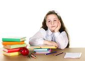 Pensive school girl — Stock Photo