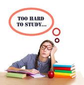 Student girl sleep — Stock Photo