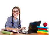Working teen girl — Stock Photo