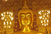 The golden Buddha statue. — Stock Photo