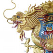 Gold Dragon statue — Stock Photo