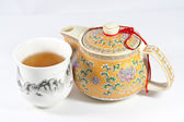 Teapot and Teacup — Stockfoto